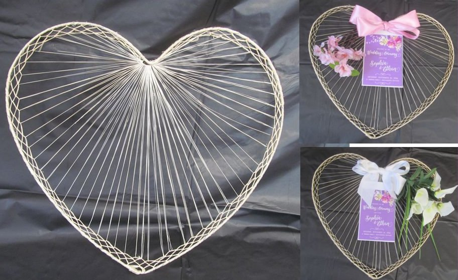 raffia wedding fan